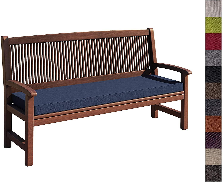 Detex Bench Cushion 110 X 100 Cm Viscoeffect Indoor Outdoor Backrest Upholstery Bench Cushion Grey Plain Garden Outdoors Ecog Cushions